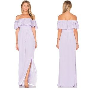 Jay godfrey stavro purple maxi dress sleeveless